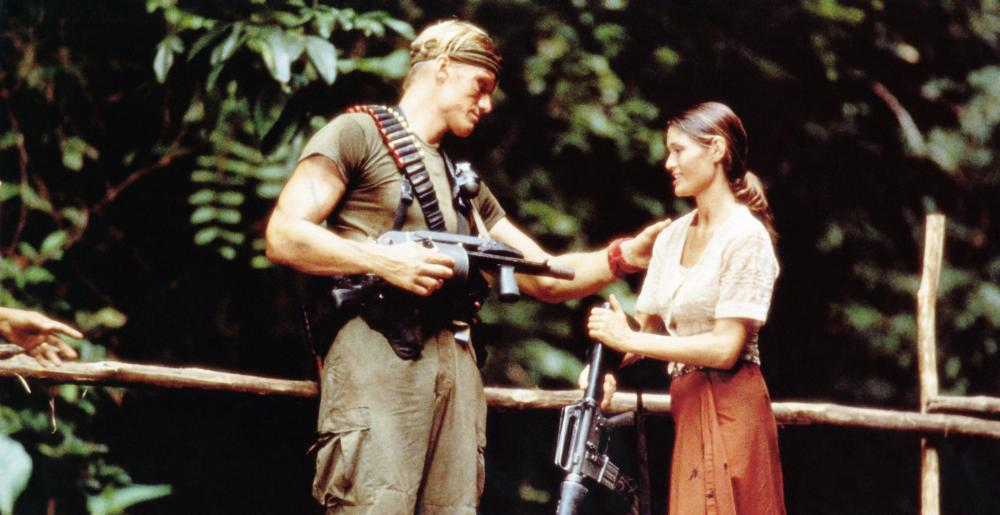 MEN OF WAR, from left: Dolph Lundgren, Catherine Bell, 1994, © Dimension Films