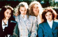 HEATHERS, from left: Winona Ryder, Kim Walker, Lisanne Falk, Shannon Doherty, 1988, © New World