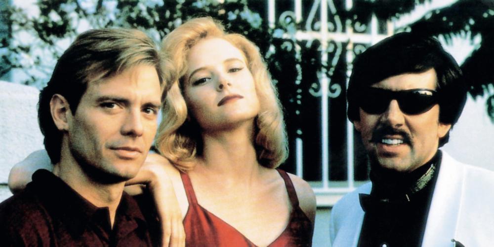 DEADFALL, from left: Michael Biehn, Sarah Trigger, Nicolas Cage, 1993, © Trimark