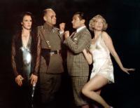 BULLSHOT, (aka BULLSHOT CRUMMOND), from left: Frances Tomelty, Ronald E. House, Alan Shearman, Diz White, 1983, © Island Alive