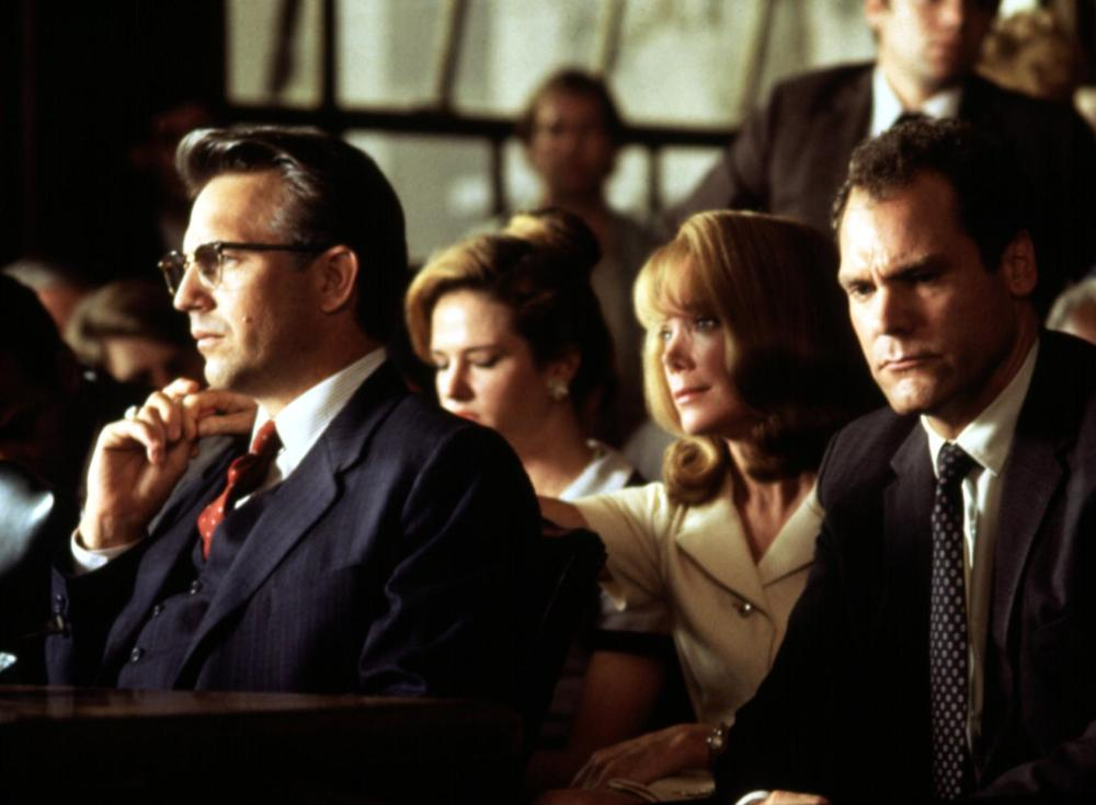 JFK, Kevin Costner, Sissy Spacek, 1991, in the courtroom
