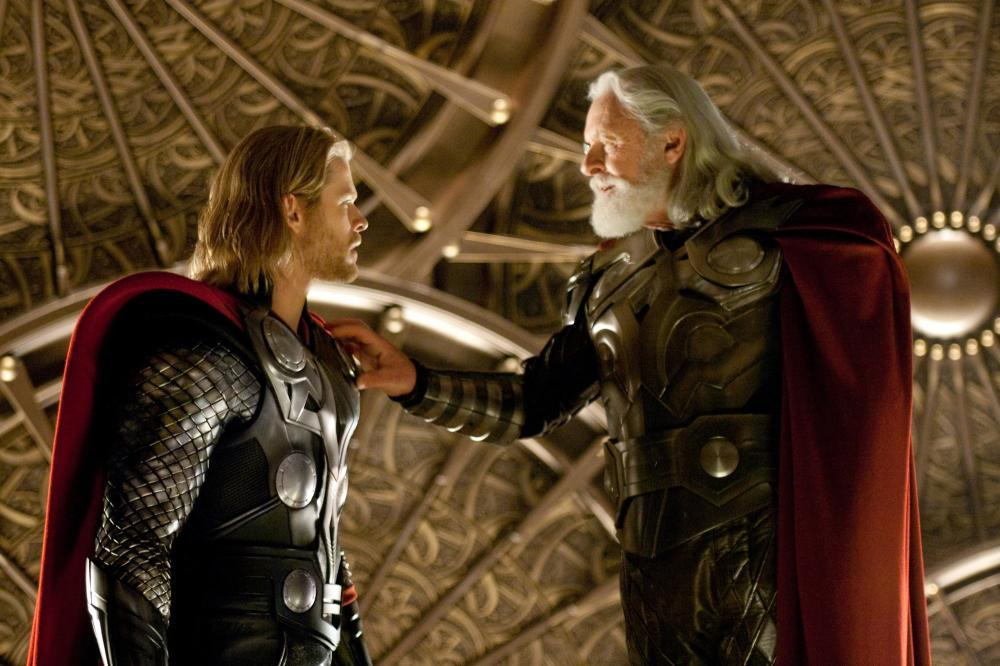 THOR, from left: Chris Hemsworth, Anthony Hopkins, 2011. ©Paramount Pictures