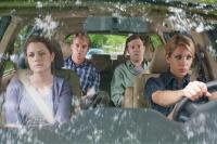 HALL PASS, from left: Jenna Fischer, Owen Wilson, Jason Sudeikis, Christina Applegate, 2011. ph: Peter Iovino/©Warner Bros.