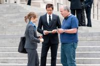 MORNING GLORY, from left: Rachel McAdams, Jeff Goldblum, director Roger Michell, on set, 2010. ph: Macall Polay/©Paramount Pictures
