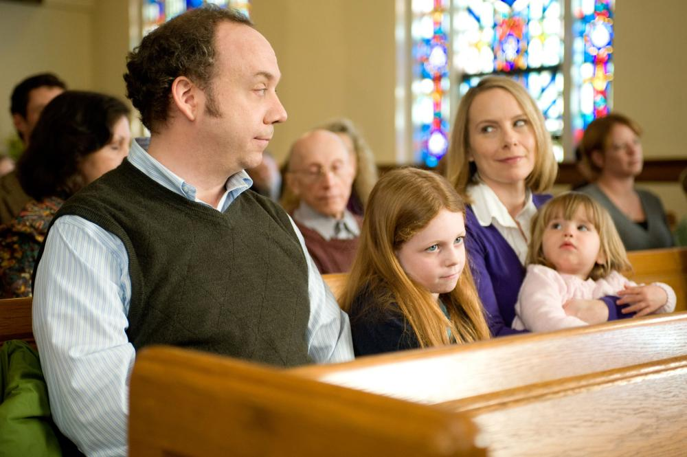WIN WIN, Paul Giamatti (left), Clare Foley (front, center), Amy Ryan (in purple), 2011. ph: Kimberly Wright/TM and ©Fox Searchlight Pictures. All rights reserved.