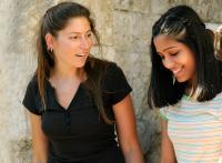 MIRAL, from left: Stella Schnabel, Freida Pinto, 2010. ph: Jose Haro/©Weinstein Company