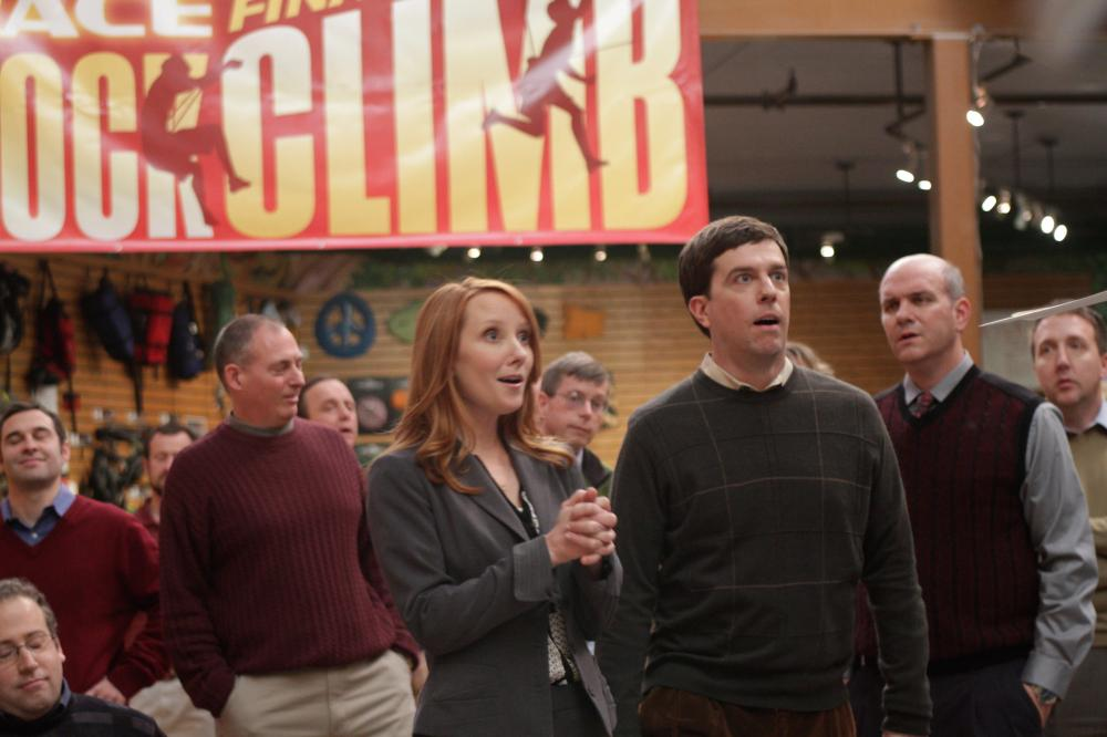 CEDAR RAPIDS, Anne Heche (center of frame), Ed Helms (front right), 2011. ph: Zade Rosenthal/TM and Copyright ©Fox Searchlight Pictures. All rights reserved.