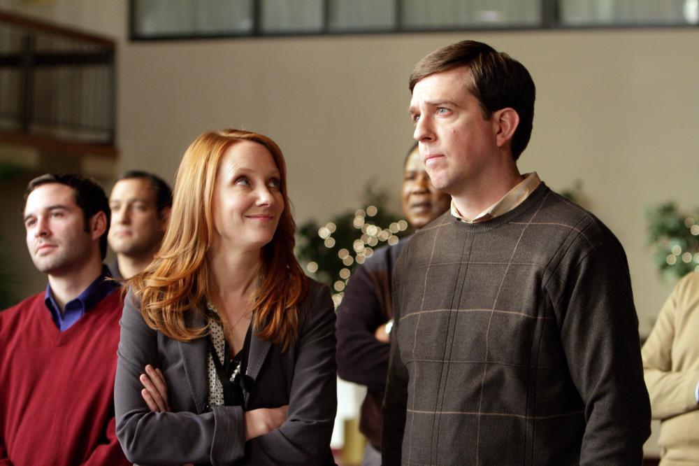 CEDAR RAPIDS, from left: Anne Heche, Ed Helms, 2011. ph: Zade Rosenthal/TM and Copyright ©Fox Searchlight Pictures. All rights reserved.