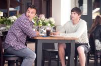 NO STRINGS ATTACHED, from left: Jake M. Johnson, Ashton Kutcher, 2011. ph: Dale Robinette/©Paramount Pictures