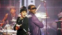 JUSTIN BIEBER: NEVER SAY NEVER, from left: Justin Bieber, Usher Raymond, 2011. ©Paramount Pictures