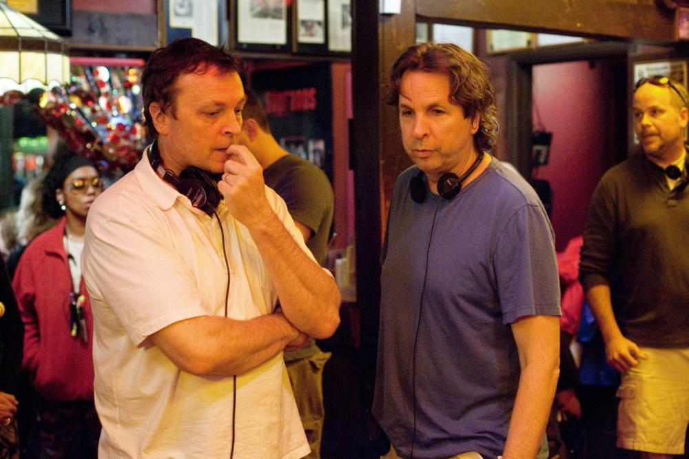 HALL PASS, from left: writer, producer and director Peter Farrelly, writer, producer and director Bobby Farrelly, on set, 2011. ph: Peter Iovino/©Warner Bros.