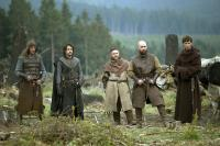 BLACK DEATH, from left: Tygo Gernandt, Emun Elliottt, Andy Nyman, Johnny Harris, Eddie Redmayne, 2010. ©Magnet Releasing