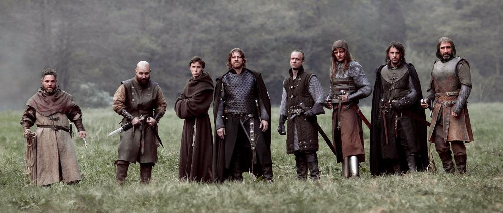 BLACK DEATH, from left: Andy Nyman, Johnny Harris, Eddie Redmayne, Sean Bean, Jamie Ballard, Tygo Gernandt, Emun Elliottt, John Lynch, 2010. ©Magnet Releasing