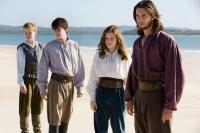 THE CHRONICLES OF NARNIA: THE VOYAGE OF THE DAWN TREADER, from left: Will Poulter, Skandar Keynes, Georgie Henley, Ben Barnes, 2010. TM  ©Twentieth Century Fox Film Corp. All rights reserved