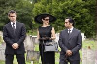 LONDON BOULEVARD, from left: Colin Farrell, Anna Friel, Sanjeev Bhaskar, 2010. ©FilmDistrict
