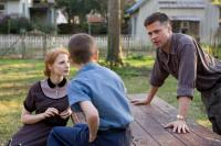 THE TREE OF LIFE, Jessica Chastain (left), Brad Pitt (right), 2011. ©Fox Searchlight