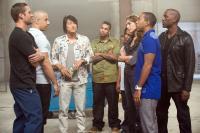 FAST FIVE, from left: Paul Walker, Vin Diesel, Sung Kang, Don Omar, Tego Calderon, Gal Gadot, Ludacris, Tyrese Gibson, 2011. ph: Jaimie Trueblood/©Universal Pictures