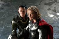 THOR, l-r: Tom Hiddleston, Chris Hemsworth, 2011, ph: Zade Rosenthal/©Paramount Pictures