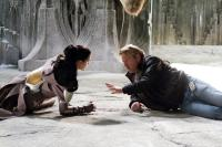THOR, from left: Jaimie Alexander, director Kenneth Branagh, on set, 2011. Ph: Zade Rosenthal/©Paramount Pictures