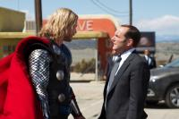 THOR, from left: Chris Hemsworth, as Thor, Clark Gregg, 2011. Ph: Zade Rosenthal/©Paramount Pictures