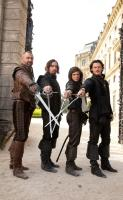 THE THREE MUSKETEERS, from left: Ray Stevenson, Matthew MacFadyen, Logan Lerman, Luke Evans, 2011. ph: Rolf Konow/©Summit Entertainment