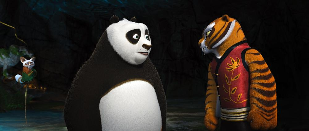 kung fu panda 2 from left shifu voice dustin hoffman - Tigresse Kung Fu Panda
