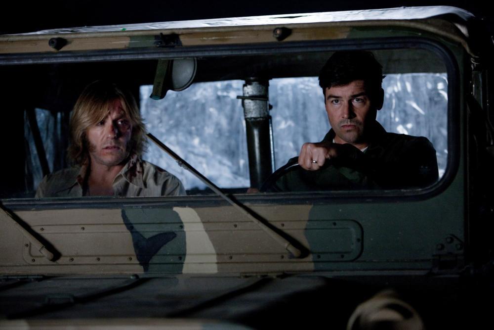 SUPER 8, from left: Ron Eldard, Kyle Chandler, 2011. ph: Francois Duhamel/©Paramount Pictures