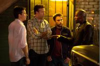 HORRIBLE BOSSES, from left: Jason Bateman, Jason Sudeikis, Charlie Day, Jamie Foxx, 2011. ph: John P. Johnson/©Warner Bros.