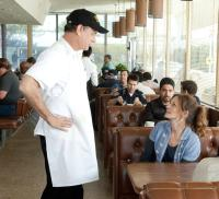 LARRY CROWNE, Tom Hanks, Julia Roberts, Wilmer Valderrama (back right), 2011. ©Universal Pictures