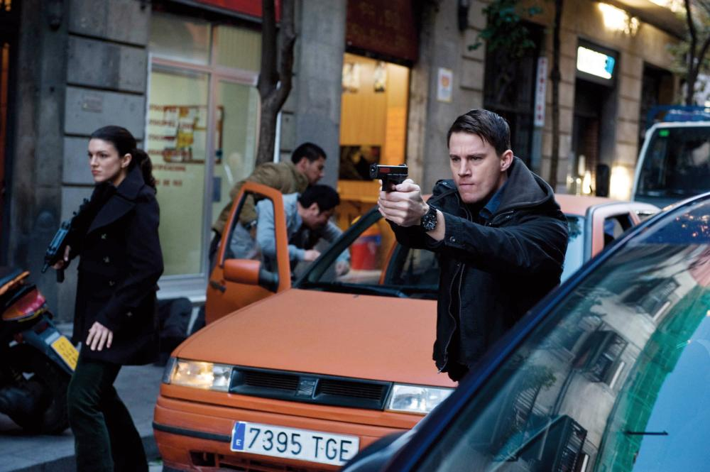 HAYWIRE, from left: Gina Carano, Channing Tatum, 2011. ph: Claudette Barius/©Relativity Media