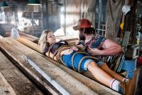 TUCKER & DALE VS EVIL, from left: Katrina Bowden, Tyler Labine, 2009. ph: Dan Power/©Maple Pictures