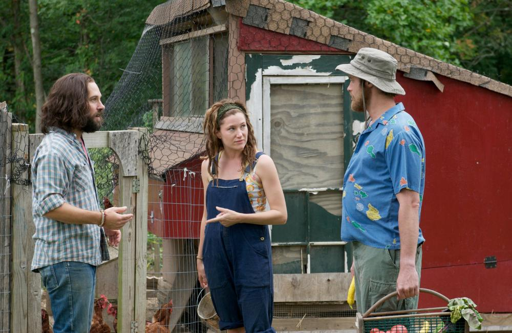 OUR IDIOT BROTHER, (aka MY IDIOT BROTHER), from left: Paul Rudd, Kathryn Hahn, T.J. Miller, 2011. ph: Nicole Rivelli/©Weinstein Company