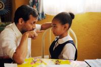 "Jesse Borrego as ""Fabio"" and Amandla Stenberg as ""Young Cataleya""  in Columbia PIctures' COLOMBIANA."