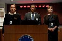 CONTAGION, from left: Bryan Cranston, Laurence Fishburne, Jennifer Ehle, 2011. ph: Claudette Barius/©Warner Bros
