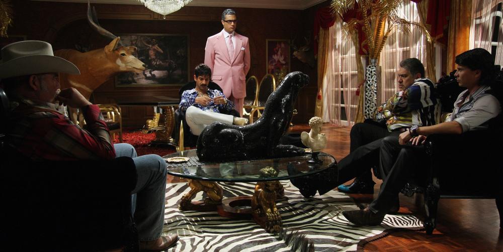 SAVING PRIVATE PEREZ, (aka SALVANDO AL SOLDADO PEREZ), Miguel Rodarte (sitting, center), Jaime Camil (pink), 2011. ©Pantelion Films