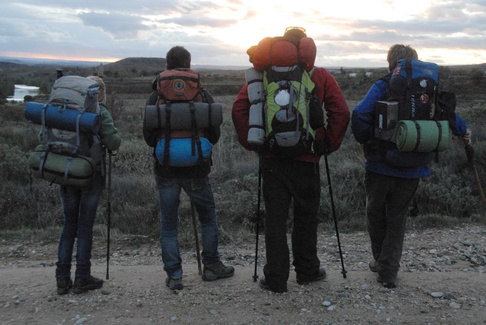 THE WAY, l-r: Deborah Kara Unger, James Nesbitt, Yorick Van Wageningen, Martin Sheen, 2010, ©Icon Entertainment International
