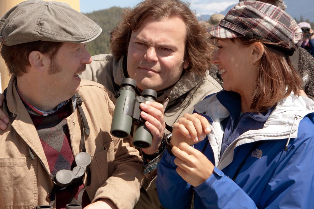 THE BIG YEAR, from left: Tim Blake Nelson, Jack Black, Rashida Jones, 2011. ph: Murray Close/TM and ©Copyright Fox 2000 Pictures. All rights reserved.