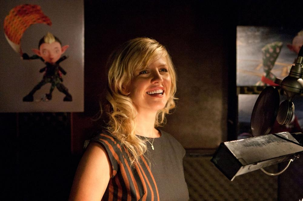 ARTHUR CHRISTMAS, Ashley Jensen (voice of Bryony), on set, 2011. ©Columbia Pictures
