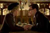 THE IRON LADY, from left: Alexandra Roach as young Margaret Thatcher, Harry Lloyd as young Denis Thatcher, 2011. ph: Alex Bailey/©Weinstein Company