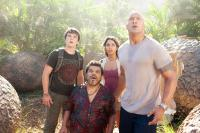 JOURNEY 2: THE MYSTERIOUS ISLAND, from left: Josh Hutcherson, Luis Guzman, Vanessa Hudgens, Dwayne Johnson, 2012. ph: Ron Phillips/©Warner Bros. Pictures