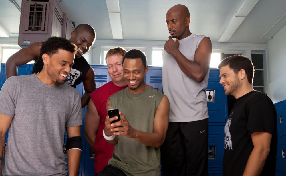 THINK LIKE A MAN, from left: Michael Ealy, Kevin Hart, Gary Owen, Terrence Jenkins, Romany Malco, Jerry Ferrara, 2012. ph: Alan Markfield/©Screen Gems