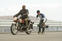 GHOST RIDER: SPIRIT OF VENGEANCE, from left: stuntman Jermaine Holt, director Mark Neveldine, on set, 2012. Ph: Jasin Boland/©Columbia Pictures