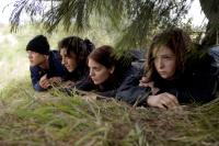 TOMORROW, WHEN THE WAR BEGAN, from left: Lincoln Lewis, Deniz Akdeniz, Caitlin Stasey, Ashleigh Cummings, 2010. ©Paramount Pictures