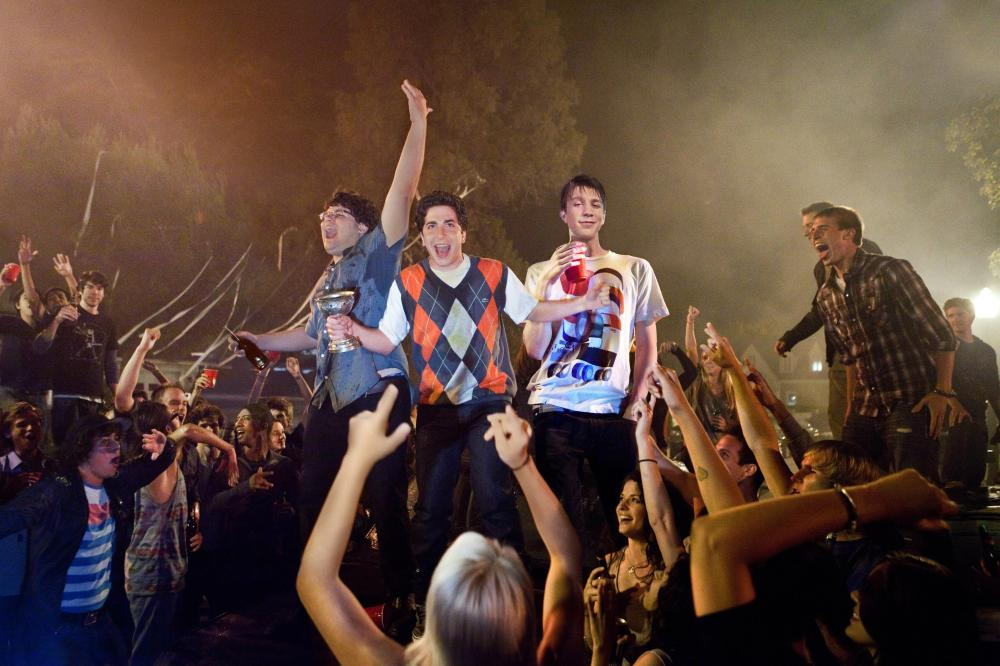 PROJECT X, top from left: Jonathan Daniel Brown, Oliver Cooper, Thomas Mann, 2012. ph: Beth Dubber/©Warner Bros.
