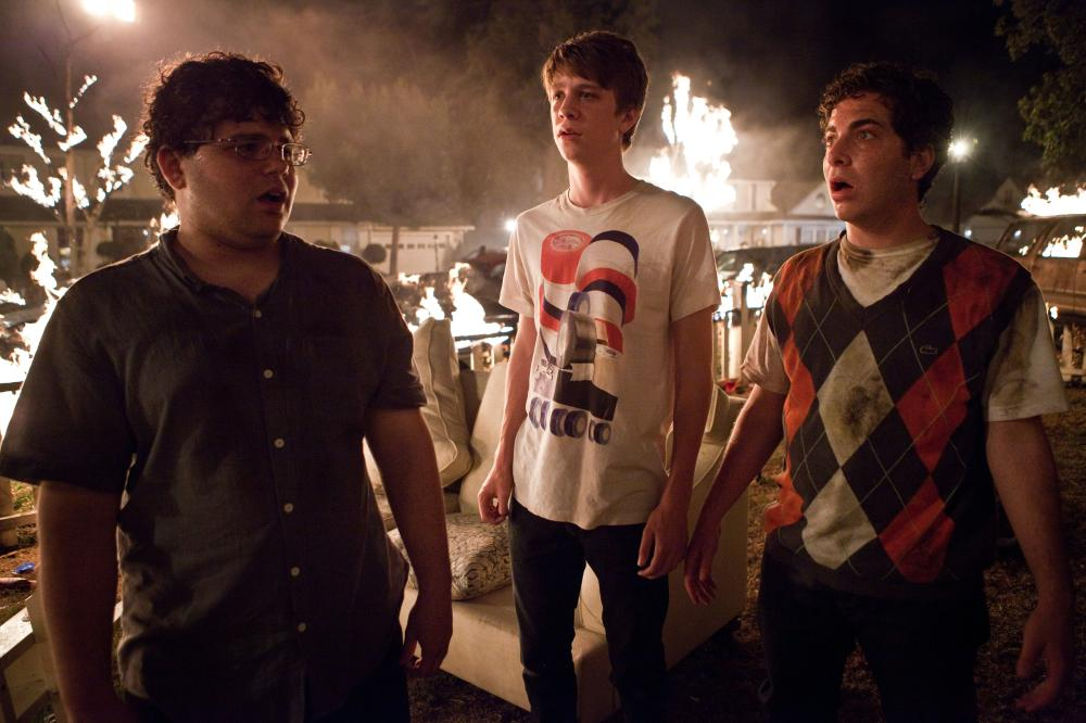 PROJECT X, from left: Jonathan Daniel Brown, Thomas Mann, Oliver Cooper, 2012. ph: Beth Dubber/©Warner Bros.