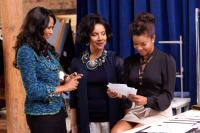GOOD DEEDS, from left: Beverly Johnson, Phylicia Rashad, Gabrielle Union, 2012. ph: Quantell Colbert/©Lionsgate