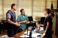 21 JUMP STREET, from left: Jonah Hill, Channing Tatum, Dave Franco, 2012. ph: Scott Garfield/©Columbia Pictures