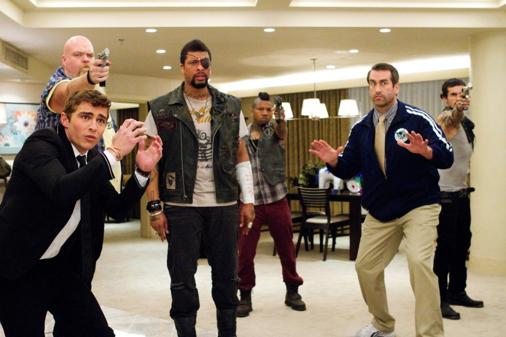 21 JUMP STREET, from left: Randall Reeder, Dave Franco, DeRay Davis, Dominic 'Taz' Alexander, Rob Riggle, Luis Da Silva Jr., 2012. ph: Scott Garfield/©Columbia Pictures