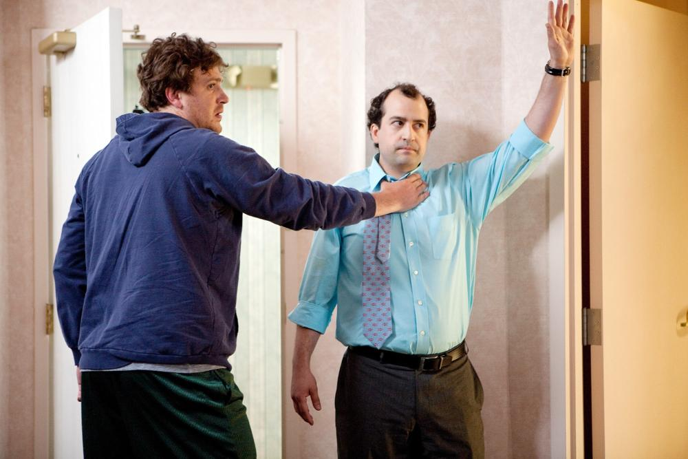 JEFF, WHO LIVES AT HOME, from left: Jason Segel, Steve Zissis, 2011. ©Paramount Vantage