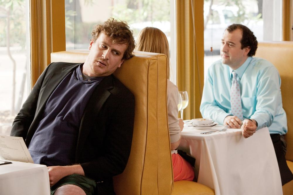 JEFF, WHO LIVES AT HOME, from left: Jason Segel, Judy Greer, Steve Zissis, 2011. ©Paramount Vantage